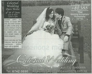 Celestial Bridal Advert.