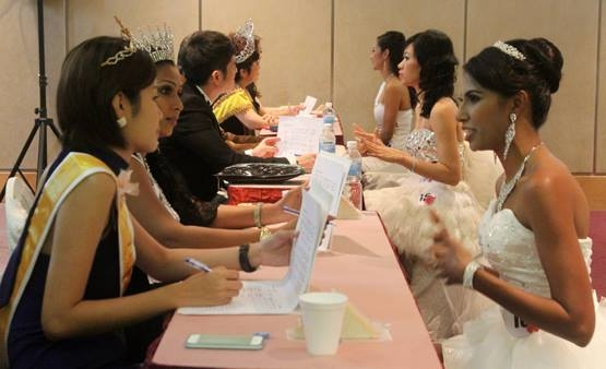 Mrs Asia International Prejudging day. With the panel of judges